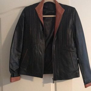 Jackets & Blazers - Leather jacket purchased from Morocco medium 42